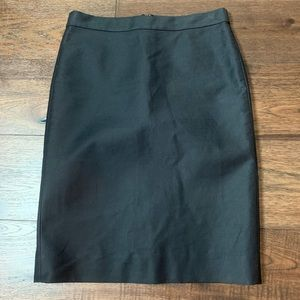 J. Crew No. 2 Black Pencil Skirt